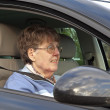 Royalty-Free Stock Photo: Senior Woman Driving