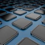 Computer microchip CPU 3D. — Stock Photo #8078351