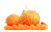Knitting. Knitted. Isolated on white background — Stock Photo
