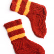 Winter knitted woolen socks. Isolated — Stock Photo