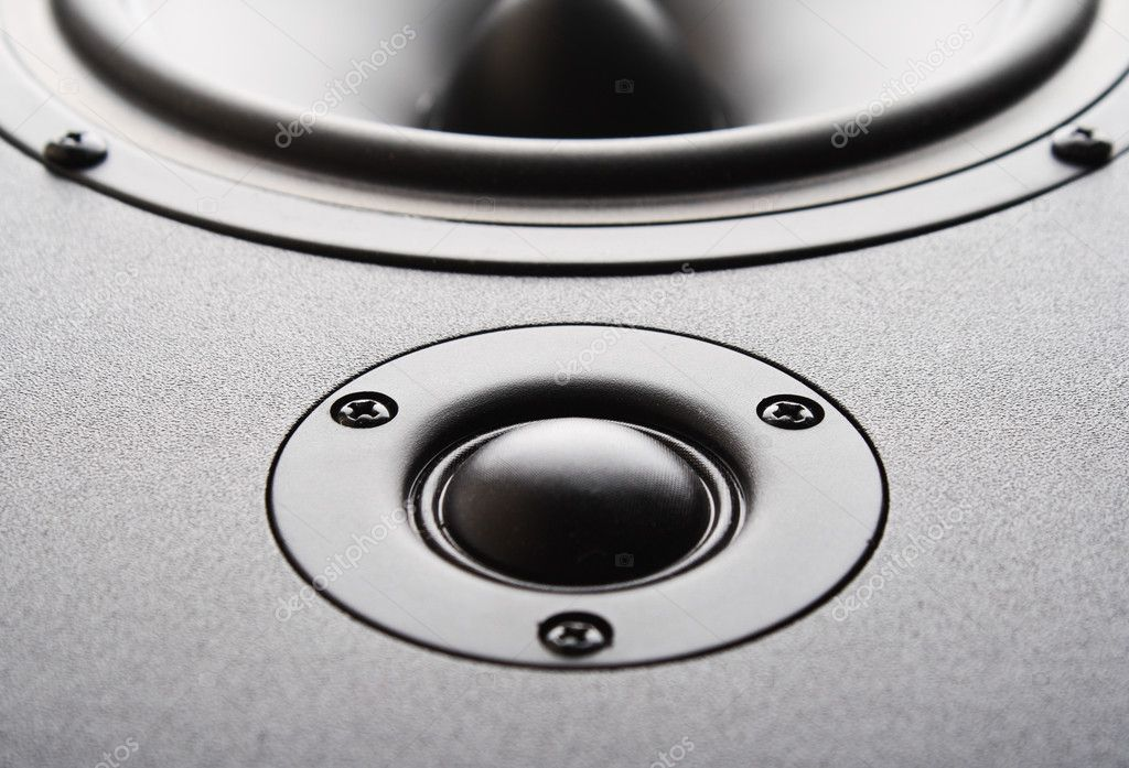 Audio speaker. The musical equipment. Close-up — Stock Photo #8451774