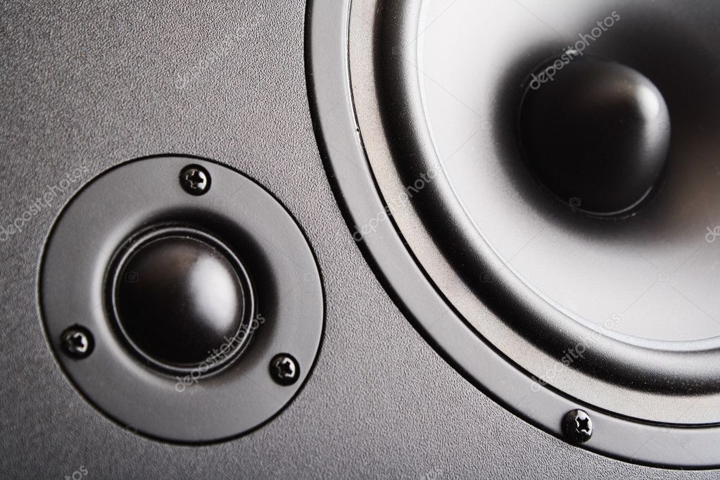 Audio speaker. The musical equipment. Close-up — Stock Photo #8451806