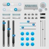 User Interface Design Elements — Stock Vector