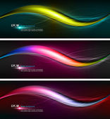 Intensive Colors | Wavy Banner Illustration — Stockvektor