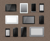 Different Models of Tablets and Smart Phones — Stockvector