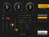 Elementos de design de interface de usuário — Vetorial Stock