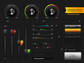 User interface design elementen — Stockvector