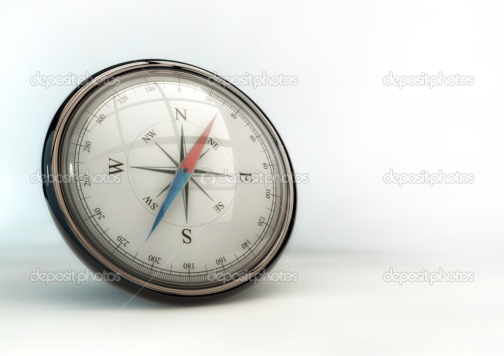 Shiny Compass Illustration — Stock Photo #10373898