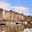 Stock Photo: The beautiful old port of Honfleur, Normandy, France.