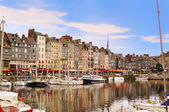 The beautiful old port of Honfleur, Normandy, France. — Stock Photo