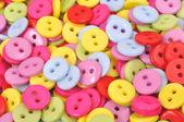 Odzież kolorowych przycisków — Zdjęcie stockowe