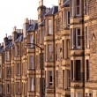 Victorian flats, residential housing in the UK - Stock Photo