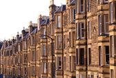 Victoriaanse flats, residentiële huisvesting in het verenigd koninkrijk — Stockfoto
