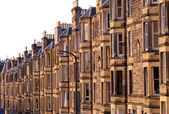 Victorian flats, residential housing in the UK — Stock Photo