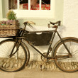 Old Fashioned Delivery Bicycle - Stock Photo