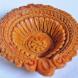 Panti  An Indian  clay Diya - Stock Photo