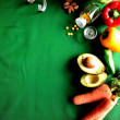 Vegetable,diet food with tape measure - Foto de Stock