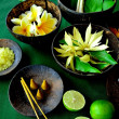 Royalty-Free Stock Photo: Asian tropical flowers and spa supplies