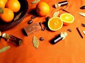 Orange ,spice and aromatherapy supplies — Stock Photo