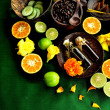 Citrus fruit and Asian spa supplies — Stock Photo #9687785