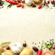 Stock Photo: Vegetable and spice