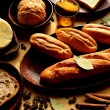 Breads with spices — Stock Photo
