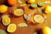 Citroenthee en citroen — Stockfoto