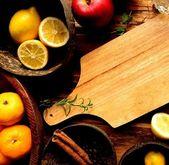 Snijplank met fruit — Stockfoto