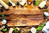 Aromatherapy bath supplies with herbs — Stock Photo
