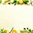 Citrus fruit,herb and spa supplies — Stock Photo