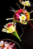 Balinese Hindu offerings — Stock Photo
