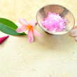 Plumeria and bath salt - Stock Photo