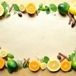 Citrus fruit and herbs - Stock Photo