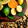 Citrus fruit with spice - Stock Photo