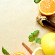 Citrus fruits and aromatherapy supplies - Foto de Stock  