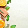 Citrus fruits and aromatherapy supplies — Stock Photo #9964742