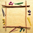 Colorful incense frame - Stock Photo