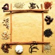 Spice frame, — Stock Photo #9971704