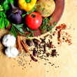 Vegetable,herb and spice — Stock Photo