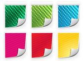 Färgat papper — Stockvektor