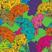 Seamless floral texture — Cтоковый вектор