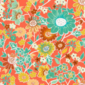 Garden seamless pattern — Stock Vector