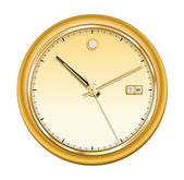 Gold shiny clock — Stock Vector