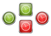 Buttons with clock sign icons — Stock Vector