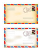 Old envelopes — Stock Vector