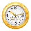 Gold watch — Vector de stock #10639228