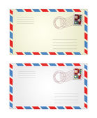 Vector illustration of gray and yellow envelopes — Vetor de Stock