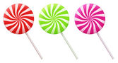Vector illustration of colorful lollipops — Stock Vector