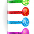 Vector illustration of easter bookmarks — Stock Vector