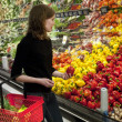 Woman shopping at super market — Stock Photo #10084660